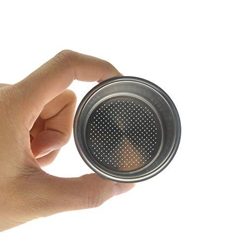 Toyofmine Coffee 2 Cup 51mm Non Pressurized Filter Basket For Breville Delonghi Krup (51mm Basket)