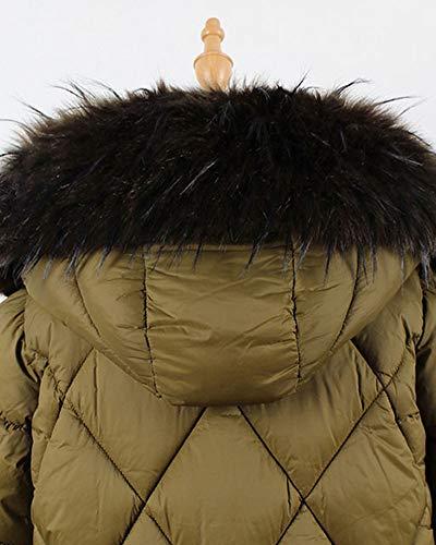 Chaleco Negro Sintético Pelo Desmontable Chaqueta De Abrigo Teñido AEq4wPwd