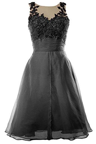 MACloth Women Straps Lace Chiffon Short Prom Dress Homecoming Formal Gown Negro
