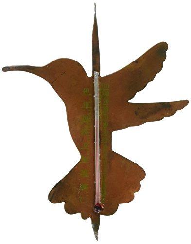 Ancient Graffiti Solid Copper Hummingbird Thermometer