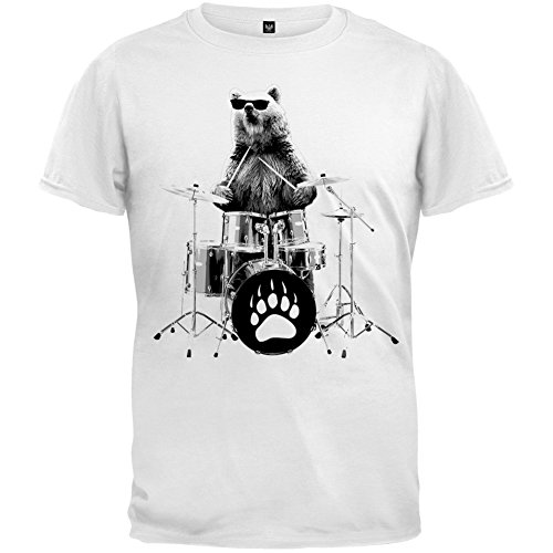 Bear Drummer Youth T-Shirt - Small(6/8) ()