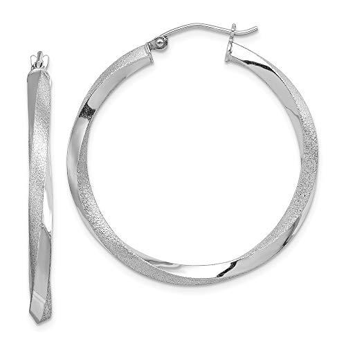 925 Sterling Silver 3mm Twisted Hoop Earrings Ear Hoops Set Fine Jewelry Gifts For Women For Her