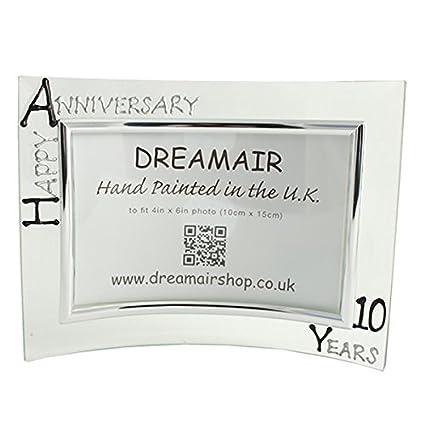 Amazon.com - 10th Year Wedding Anniversary Photo Frame (L) (Black ...