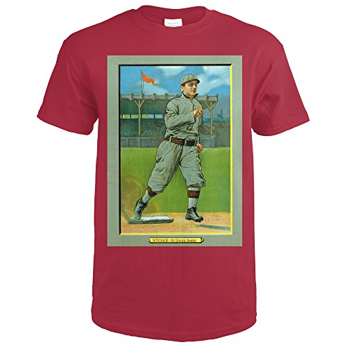 St. Louis Browns - George Stone - Baseball Card (Cardinal Red T-Shirt XX-Large) - Louis Cardinals Stone