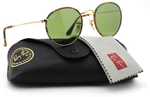201603853a Ray-Ban RB3447 029 Retro Round Matte Gunmetal   Crystal Green Lens 50mm -  Buy Online in Oman.