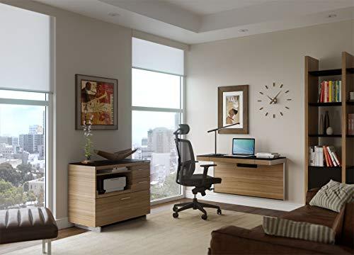 BDI 6004 WL Sequel Wall Desk, Natural Walnut
