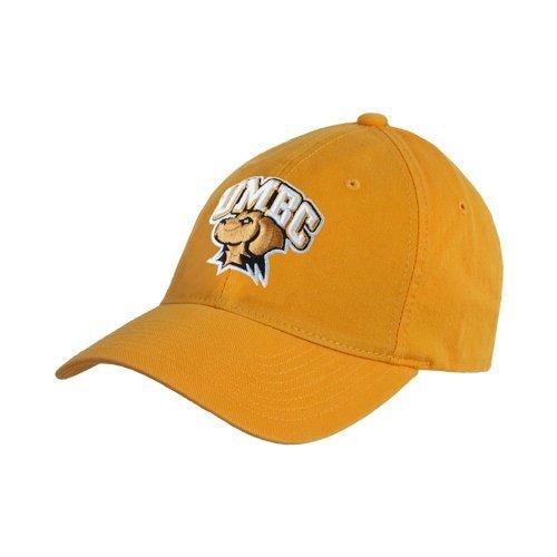 UMBCゴールドTwill Unstructured Low Profile帽子「公式ロゴ – アーチ型UMBC W / Retriever '   B00VWIM54I