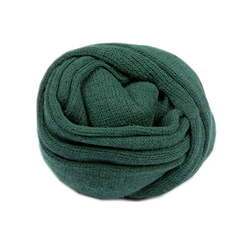 Newborn Baby Photo Props Blanket Stretch Knitted Wrap Swaddle for Boy Girls Photography Shoot (Green), Medium
