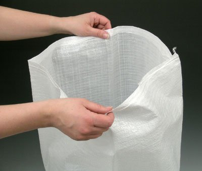 15'' x 24'' Woven Polypropylene Sandbags - White (100 Bags) - AB-30-2-162 by Miller Supply Inc
