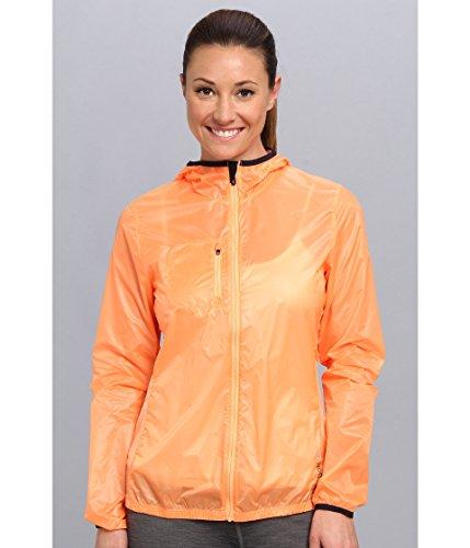(Reebok Women's DT Woven Jacket Fluorange S14-R/Reebok Navy-R Small)