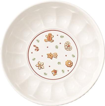 Villeroy & Boch Winter Bakery Delight Cuenco Redondo, Porcelana Premium, Blanco/Rojo