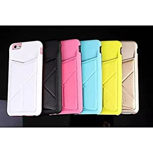 QHY Special Design Solid Color PU Leather Silicone Geometric Pattern for iPhone 6 Plus(Assorted Colors) , Yellow
