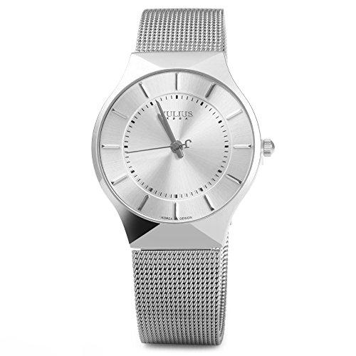 Julius JA - 577 Male Quartz Wrist Watch Ultrathin Stainless Steel Mesh Band(white) (Stainless Steel Wrist Watch compare prices)
