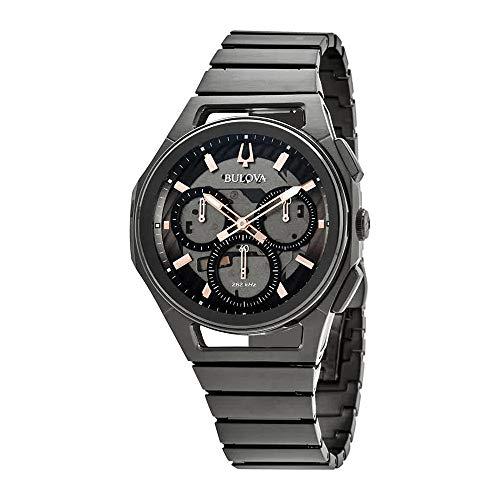 Bulova Men's Curv Bracelet - 98A207 Black One ()