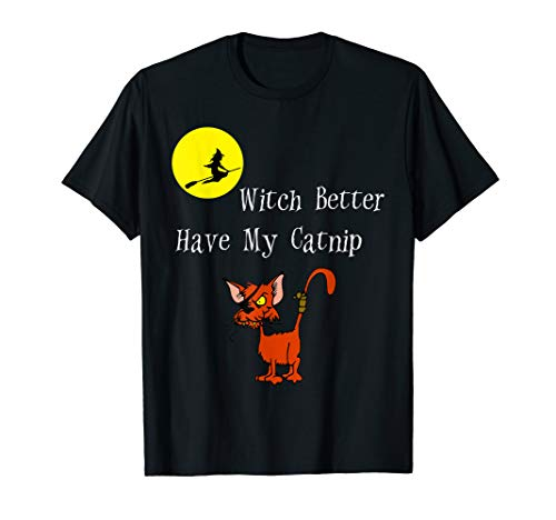 Witch Better Have My Catnip Funny Cat Halloween T-Shirt