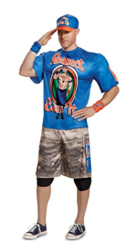 Disguise Men's Plus Size John Cena New Muscle Adult Costume, Blue, XXL (50-52)]()
