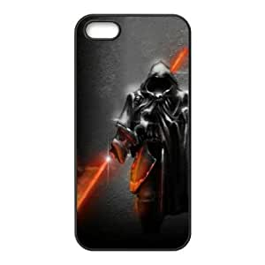 iPhone 5 5s Cell Phone Case Black Star Wars Warrior Phone Case Protective Personalized CZOIEQWMXN31080