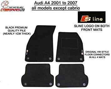 Deluxe Quality Tailored Car Mats With S Line Logo Amazoncouk - Audi a4 car mats