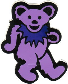 Small Light Purple Bear with Dark Purple Necklace Sticker Decal Square Deal Recordings /& Supplies