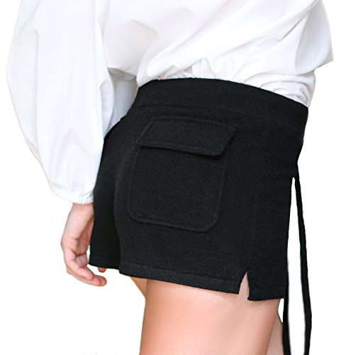 Negro 100 Pantalones Cashmere Citizen Cortos Cachemira Mujer Hq8vBYUw