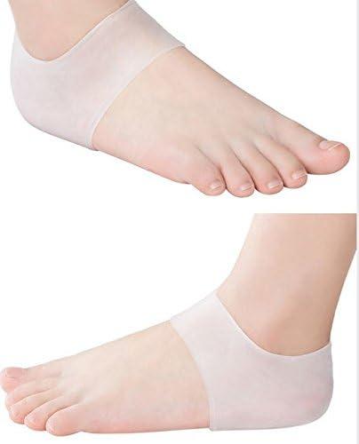 VNDEFUL 2 Pairs Silicone Gel Heel Foot Protector,Moisturizing Gel Heel Socks Protector Like Cracked Foot Skin-Care