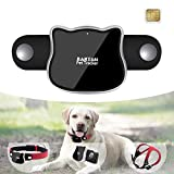 BARTUN GPS Dog Cat Tracker Locator Real Time Activity Monitor for Pet WiFi GPS LBS Positioning Tracking Device with Collar Included SIM Card