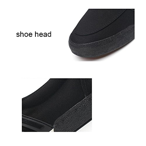 Canvas Flat Espadrilles Shoes Black Academy HUAN Shoes Casual Color Deck Size Loafers 39 Shoes Mens anAxxw0
