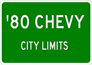 1980 80 CHEVY BEL AIR City Limit Sign - 10 x 14 Inches