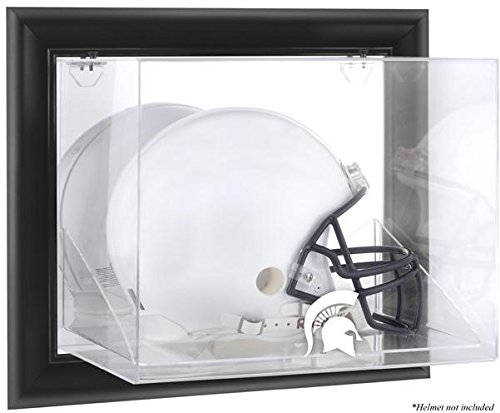 Michigan State Spartans Black Framed Wall Mountable Helmet Display Case by Sports Memorabilia