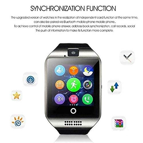 Amazon.com: YIGEYI Watch Watch Q18 Arc Display Clock Support Camera TF Card Watchs Connection for Android Smartphone The Perfect one for You (Color : Black, ...