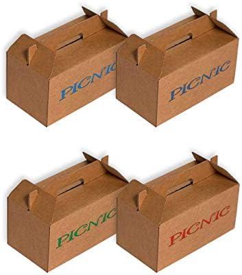 Pack 50 Cajas maletín para picnic de 240x132x125mm. Canal micro, automontable.: Amazon.es: Oficina y papelería