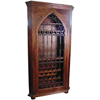 Moti Furniture Iron Jali Wine Cabinet
