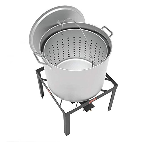 LoCo Cookers LCKT80 80qt Crawfish Kit, 80 quart, Silver