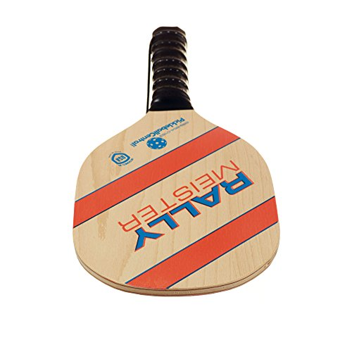 Pickleball Paddle | Rally Meister Beginner Pickle Ball Paddle | Wood Paddle with Comfort Cushion Grip & Safety Strap | USAPA Approved | Lightweight and Durable | Great Fun For All Ages