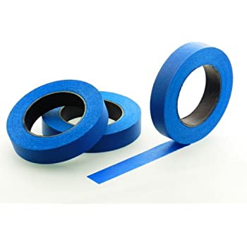 """3pk 1"""" x 60 yd Blue Painters Tape PROFESSIONAL Grade Masking Edge Trim Easy Removal (24MM .94 in)"""