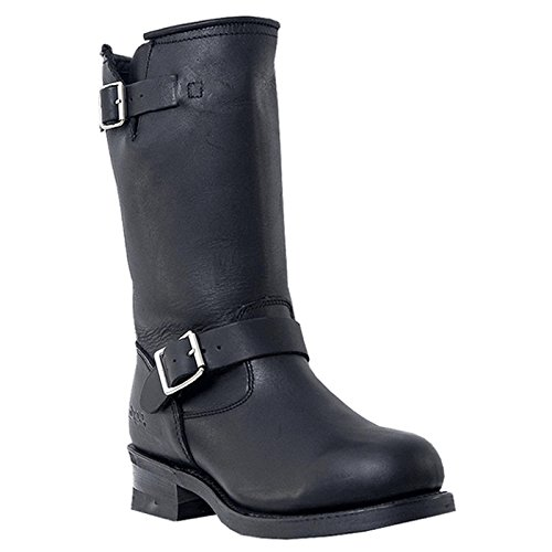 Mens Black Engineer Boots - 5