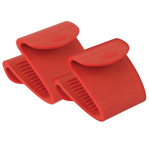 Trudeau Set of 2 Silicone Pinch Grips, Colors may vary (Tongs Trudeau)