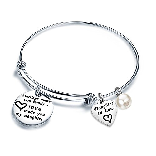 ENSIANTH 'Marriage Made You My Family Love Made You My Daughter' Bracelet...