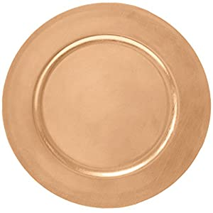 Amazon Com 13 Quot Copper Toned Plastic Charger Plates By