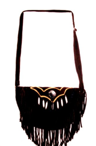 Brown Fringe Shoulder Bag Fringes Hairpipe Bones with for sale  Delivered anywhere in Canada