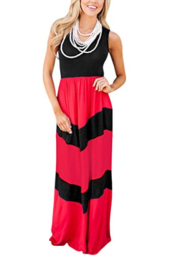 Sleeve Dress Casual You Maxi Me Black Family Dresses Bai Matching red Matching and Sleeve Long Tank Clothes Print Striped short Mommy Mei 1fndqv6