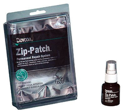 Zip Patch, 4 in x 9 in Patch, Brown (8 Pack)