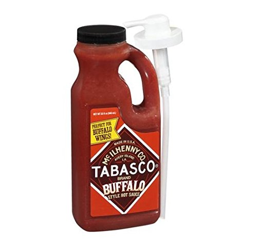 Tabasco Brand Buffalo Hot Sauce - by McIlhenny Co. 32 oz (with Pump)