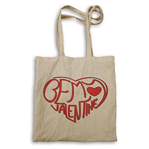 Seien Sie meine Valentinsgruß-Neuheit-lustige Vintage Kunst Tragetasche a107r