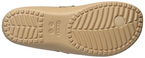 Crocs Kadee Ii Leopard Print, Sandalias Flip-Flop para Mujer Oro (Gold)