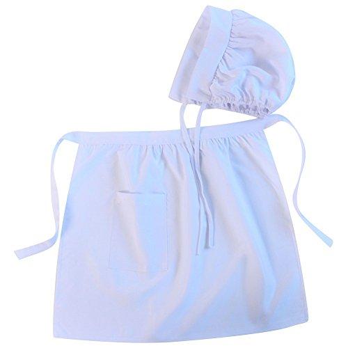 Girls Puritan Colonial Basic Apron & Bonnet Set, Size: Teen/Women (Bonnet Apron)
