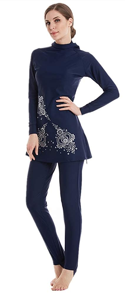 Muslim Swimsuit Islamic Modest Burkini Swimsuits for Women Full Swimwear Hijab