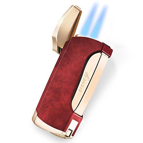 VVAY Jet Lighter, Windproof Cigarette Cigar Turbo Lighter Twin Flame Gas...