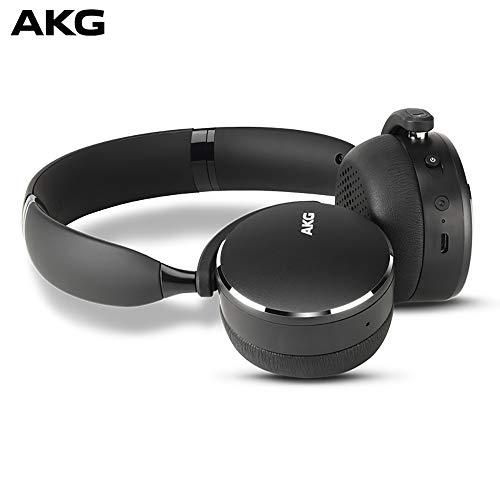 AKG Y500 On-Ear Foldable Wireless Bluetooth Headphones – Black (US Version)