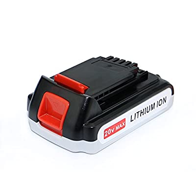 efluky 2.0Ah 20V MAX Extended Run Time Lithium-Ion Cordless Tool Battery Replacement for Black & Decker LB20 LBX20 LBXR20 LB2X4020